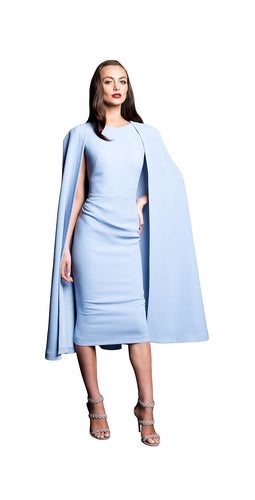 SHOULDER CAPE DRESS