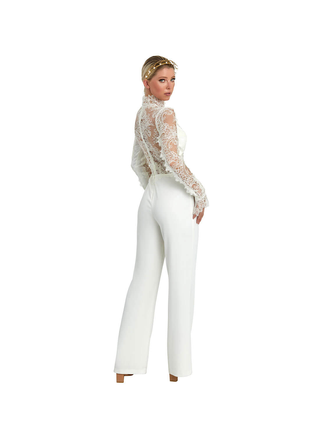 LACE APPLIQUE JUMP SUIT