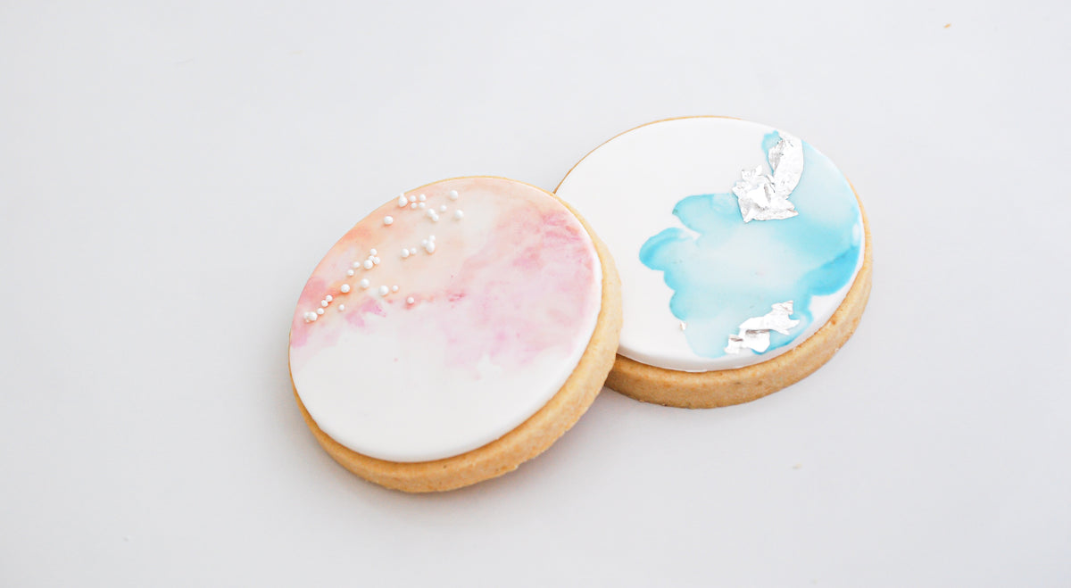 Watercolour & Wafer Paper Winter Cookie Workshop