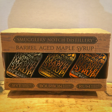 Load image into Gallery viewer, Smuggler's Notch Distillery Barrel Aged Maple Syrup Sample Pack - Bourbon, Rye, Rum - Small Batch Sanitizers