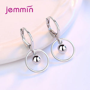 Ball and Circle Drop Earrings - Brensales