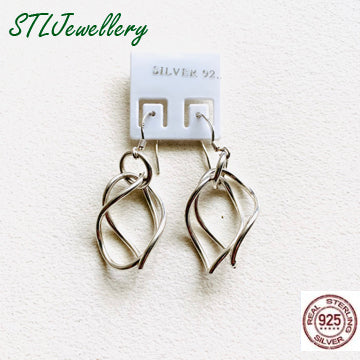 Double Puzzle Drop Earrings - Brensales