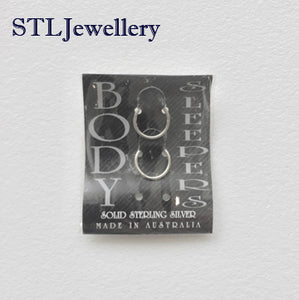 Gold Plated Body Sleepers - 1cm - Brensales