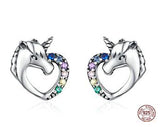 Unicorn Multi - Colour Cubic Zirconia Stud Earrings - Brensales