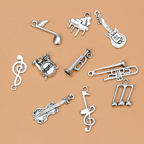 Musical Instrument Pendants - Mixed Alloy - Brensales