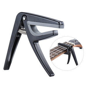 Ukulele Capo Quick Change - Steel Black Guitar Parts & Accessories - Brensales
