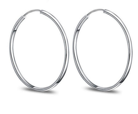 Hoop Earrings - 925 Sterling Silver - Brensales