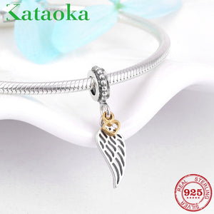 Angel Winged Charms - Fits Bracelet - 925 Sterling Silver - Brensales