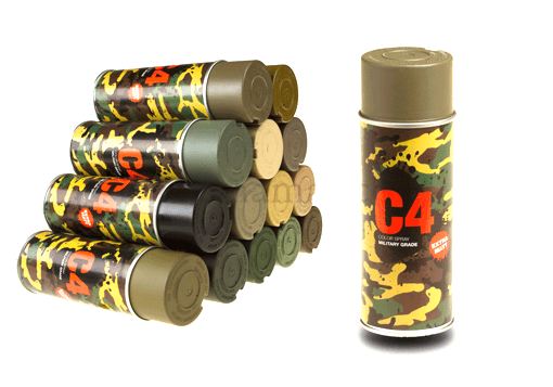 Peinture C4 Mil Grade Color TAN499