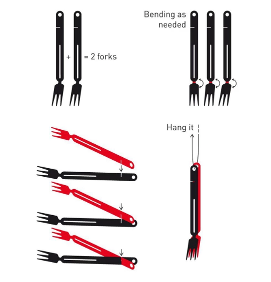 Swiss Advance SAIGA BBQ Tongs & Forks