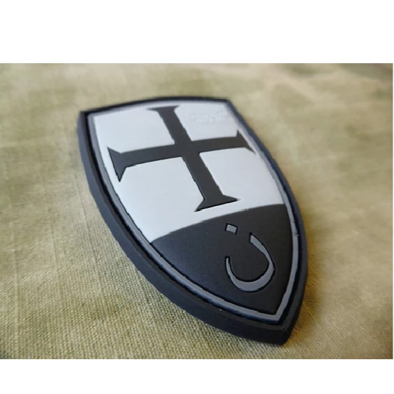 CRUSADER SHIELD RUBBER PATCH BLACKOPS