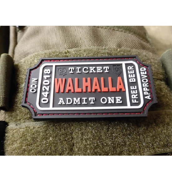 LARGE WALHALLA TICKET RUBBER PATCH BLACKMEDIC