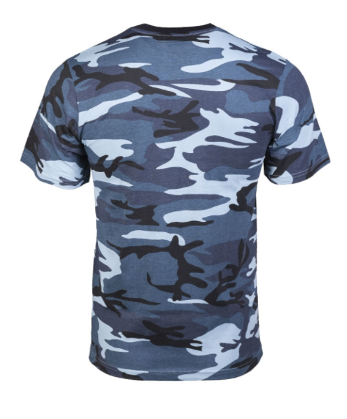 T-SHIRT CAMO Blue Navy