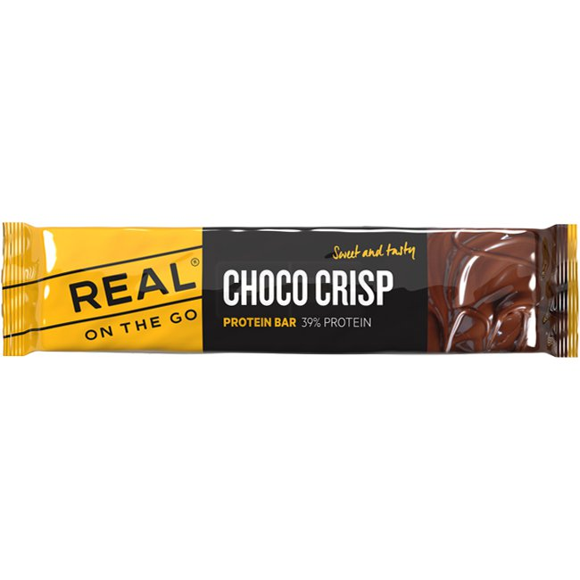 REAL Choco Crisp Proteinbar (39% protein)
