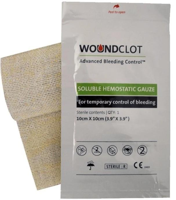 WOUNDCLOT PANSEMENT HÉMOSTATIQUE 10x10cm
