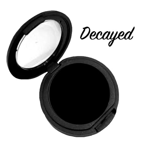 *Currently SOLD OUT!* DECAYED (Black) Pressed Eyeshadow Single - inkeddollcosmetics