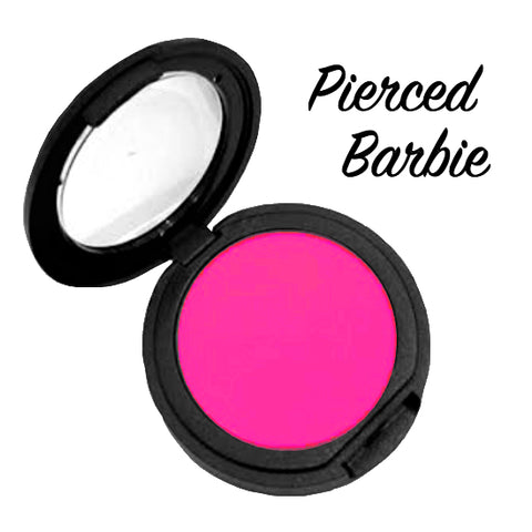 PIERCED BARBIE (Pink) Pressed Eyeshadow Single - inkeddollcosmetics