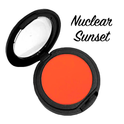 NUCLEAR SUNSET (Bright Orange) Pressed Eyeshadow Single - inkeddollcosmetics