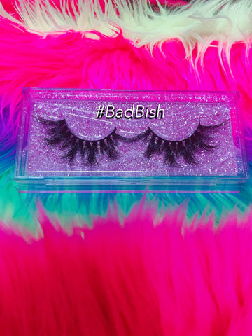 #BADBISH 3D DreamDoll Lashes *GLITTER* Case - inkeddollcosmetics