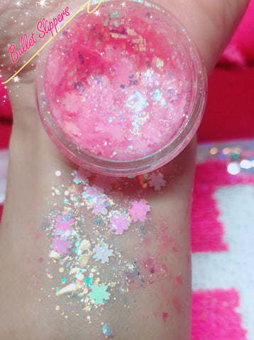 BALLET SLIPPERS Mermaid Jelly (Face/Body/Hair) Glitter Gel - inkeddollcosmetics