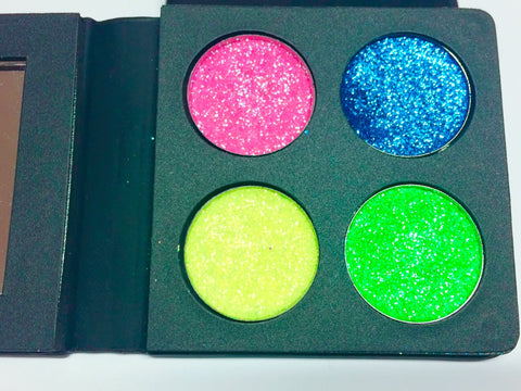 CANDY COATED DREAMZ Pressed GLITTER Quad - inkeddollcosmetics