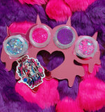 *CHESHIRE KNUCKS!* New Glitter Knuckleduster Pallette - inkeddollcosmetics
