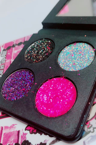 DEAD CUTE Metallic Pressed Glitter Quad - inkeddollcosmetics
