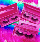 #BOSSBABE 3D DreamDoll-LUXE Lash *PINK GLITTER* Glam Magnetic Case - inkeddollcosmetics
