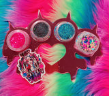 *ELECTRIC CIRCUS!* New Glitter Knuckleduster Pallette - inkeddollcosmetics