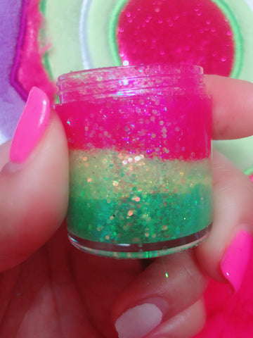 ELECTRIC WATERMELLON DUO Mermaid Jelly Shots (Face/Body/Hair) Glitter Gel - inkeddollcosmetics