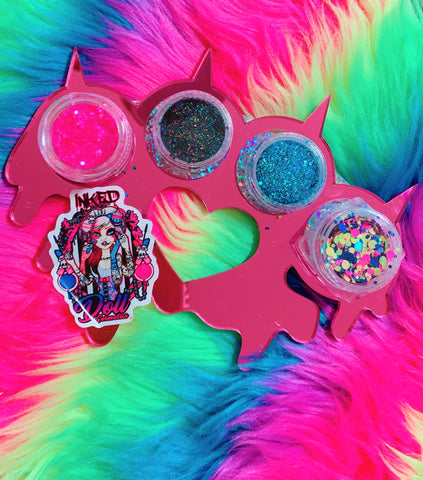 *ELECTRIC CIRCUS!* New Glitter Knuckleduster Pallette