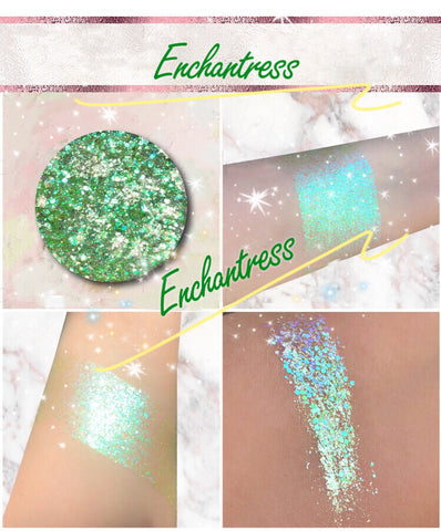 ENCHANTRESS *LMT EDT* Summer Festival Pressed Glitter - inkeddollcosmetics