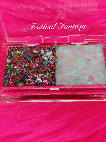 "FESTIVAL FANTASY Mermaid Jelly ""Pressed Glitter Gel"" DUOS - inkeddollcosmetics"