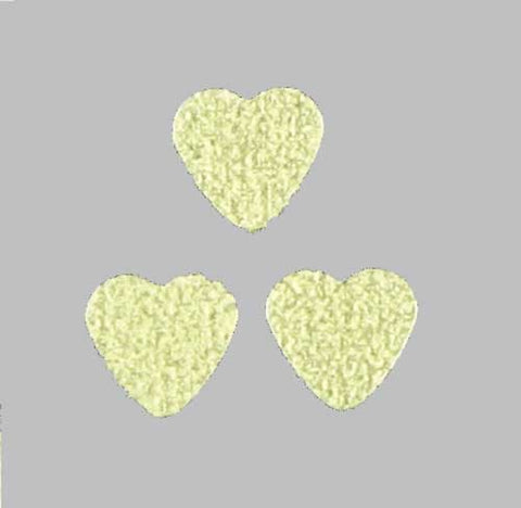 *GLOW-in-the-DARK* Festival HEARTS Glitter CONFETTI - inkeddollcosmetics