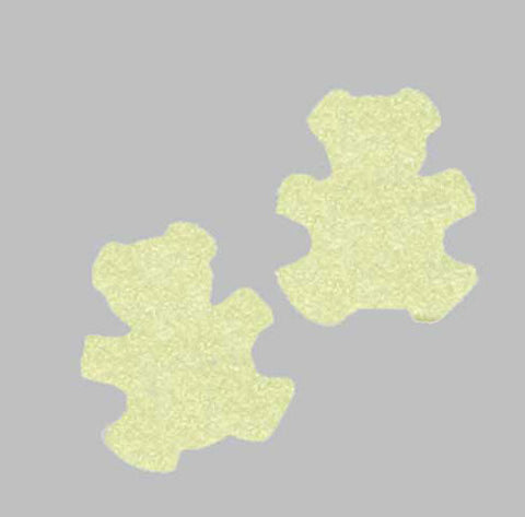 *GLOW-in-the-DARK* Festival TEDDY BEARS Glitter CONFETTI - inkeddollcosmetics
