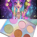 GODDESS GLOW 6 PC HIGHLIGHTER PALETTE - inkeddollcosmetics