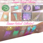 SUN KISSED *LMT EDT* Summer Festival Pressed Glitter - inkeddollcosmetics