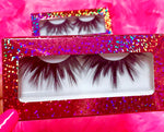 #$IKKENING 3D DreamDoll Lashes *Pink Holographic* Case