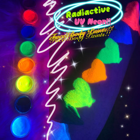 RADIOACTIVE *UV NEON* LINER/FACE/BODY PAINT!