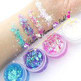 UNICORN MERMAID Glitter JELLY Pack! (4 Pack) - inkeddollcosmetics