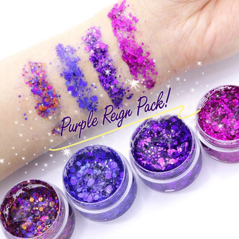 PURPLE REIGN Glitter JELLY (4 Pack)