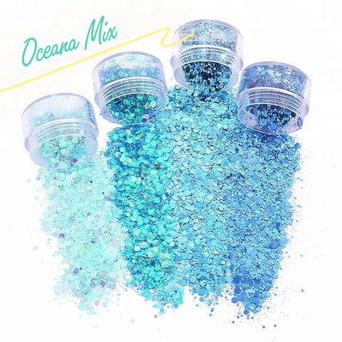 OCEANA Mix (4 pack) LOOSE Glitter - inkeddollcosmetics