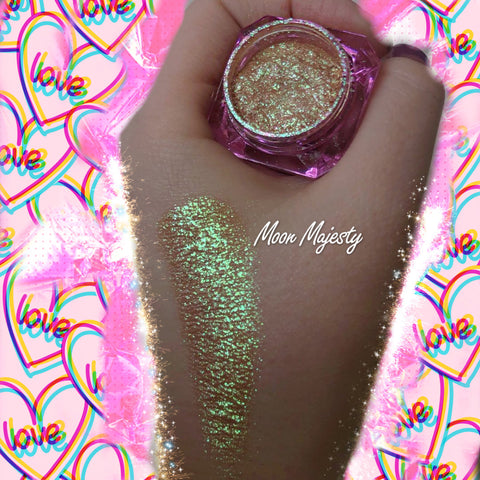 """MOON MAJESTY"" Unicorn Glow Highlighter! Dollust Dust - inkeddollcosmetics"