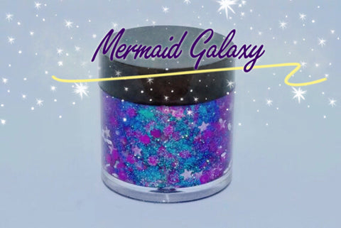 MERMAID GALAXY Mermaid Jelly (Face/Body/Hair) Glitter Gel - inkeddollcosmetics