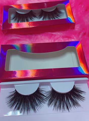 #$NOBBY 3D DreamDoll Lashes *PINK HOLOGRAPHIC* Case