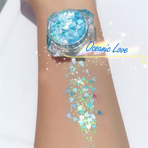 OCEANIC LOVE MERMAID JELLY (FACE/BODY/HAIR) GLITTER GEL - inkeddollcosmetics