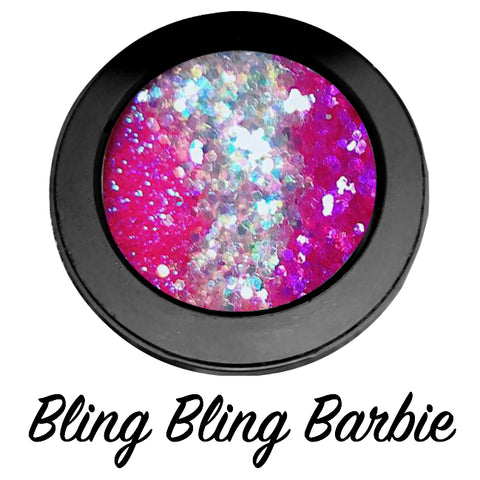 *BLing BLing BARBIE* Pressed Glitter - inkeddollcosmetics