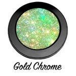 """GOLD CHROME!"" Single Pressed Glitter Palette - inkeddollcosmetics"