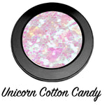 """UNICORN COTTON CANDY!"" 3D Single Pressed Glitter Palette - inkeddollcosmetics"
