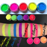 "ROLLERGIRL ""RAVE LITES""(Blacklite UV Reactive Powders!) - inkeddollcosmetics"